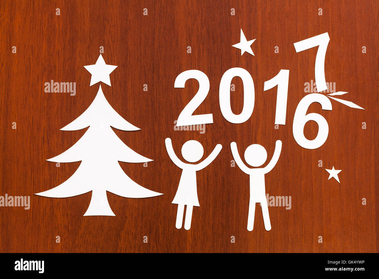 New year 2017 changes 2016. Abstract christmas conceptual image - Stock Image