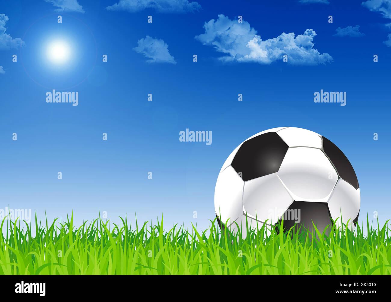 football field - Stock Image