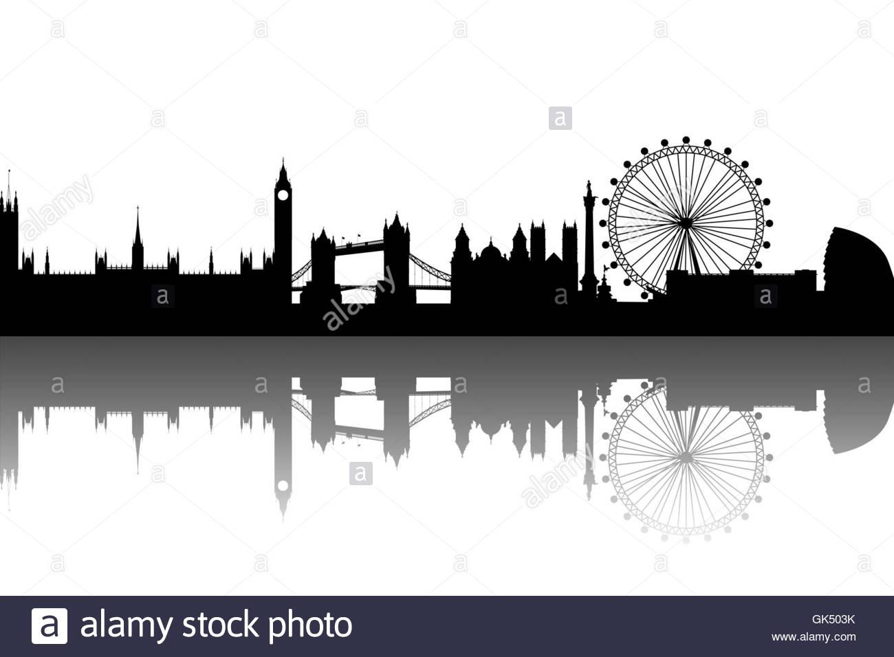 Tattoo London Skyline Stock Photos