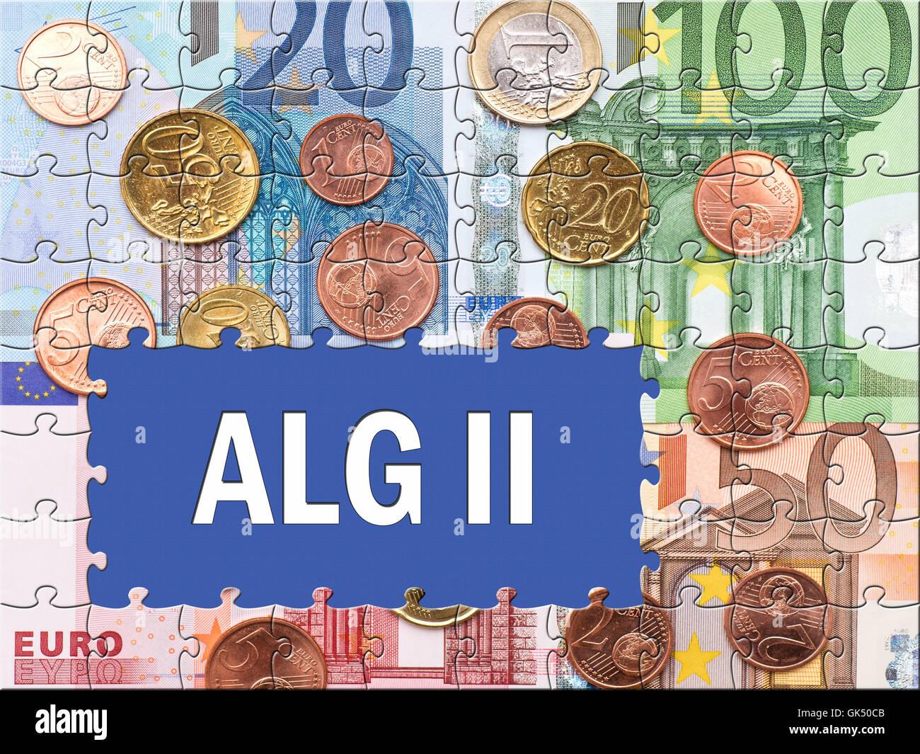 alg ii - unemployment benefit ii - Stock Image