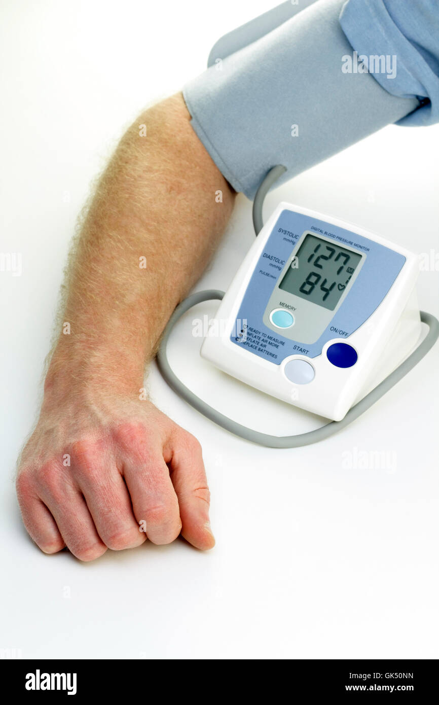 monitor high blood pressure - Stock Image