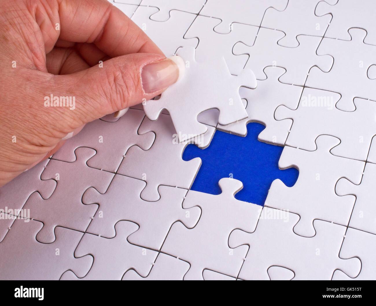 jigsaw puzzle jigsaw puzzle - Stock Image