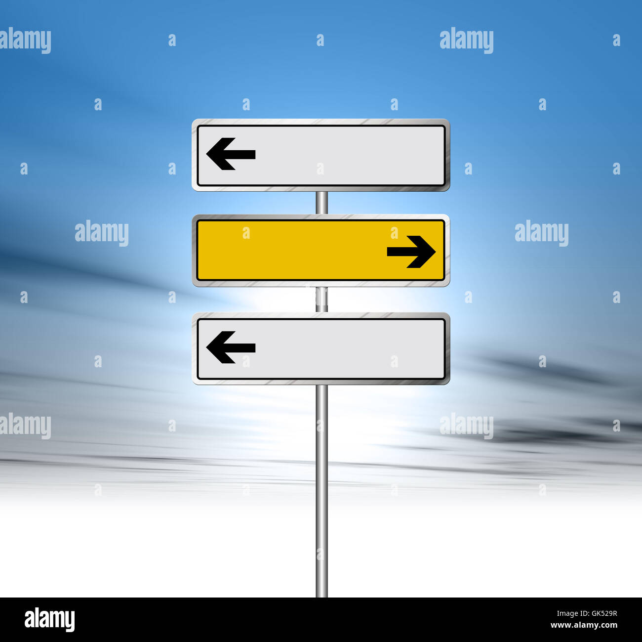 sign signal blank - Stock Image