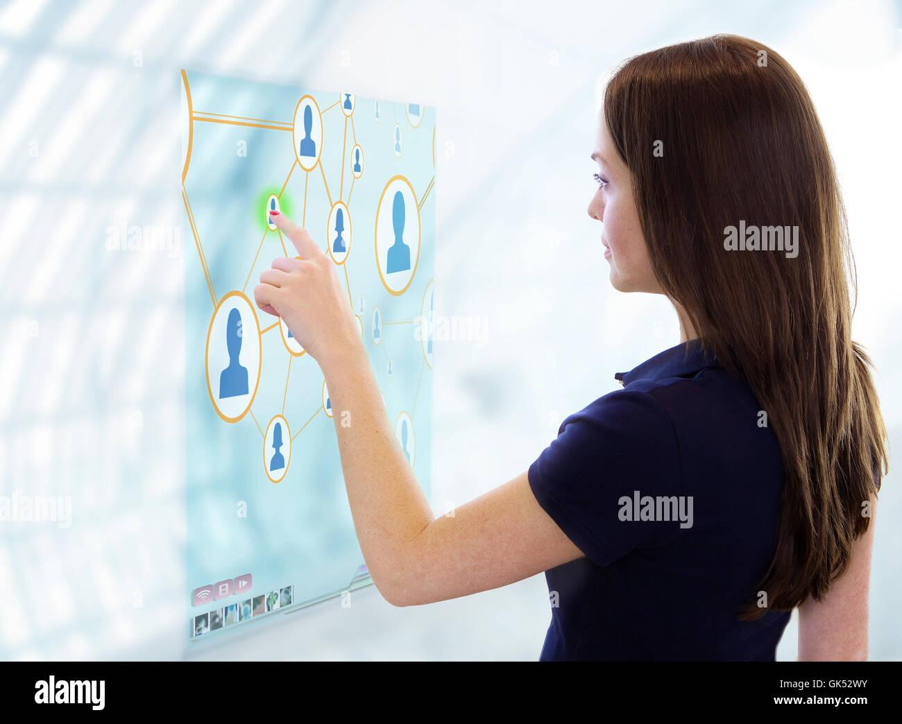 woman future communication - Stock Image