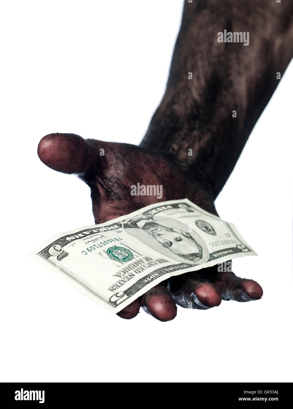 dollar dollars isolated - Stock Image