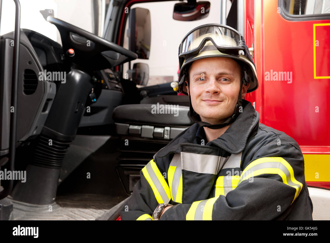 firefighter - Stock Image