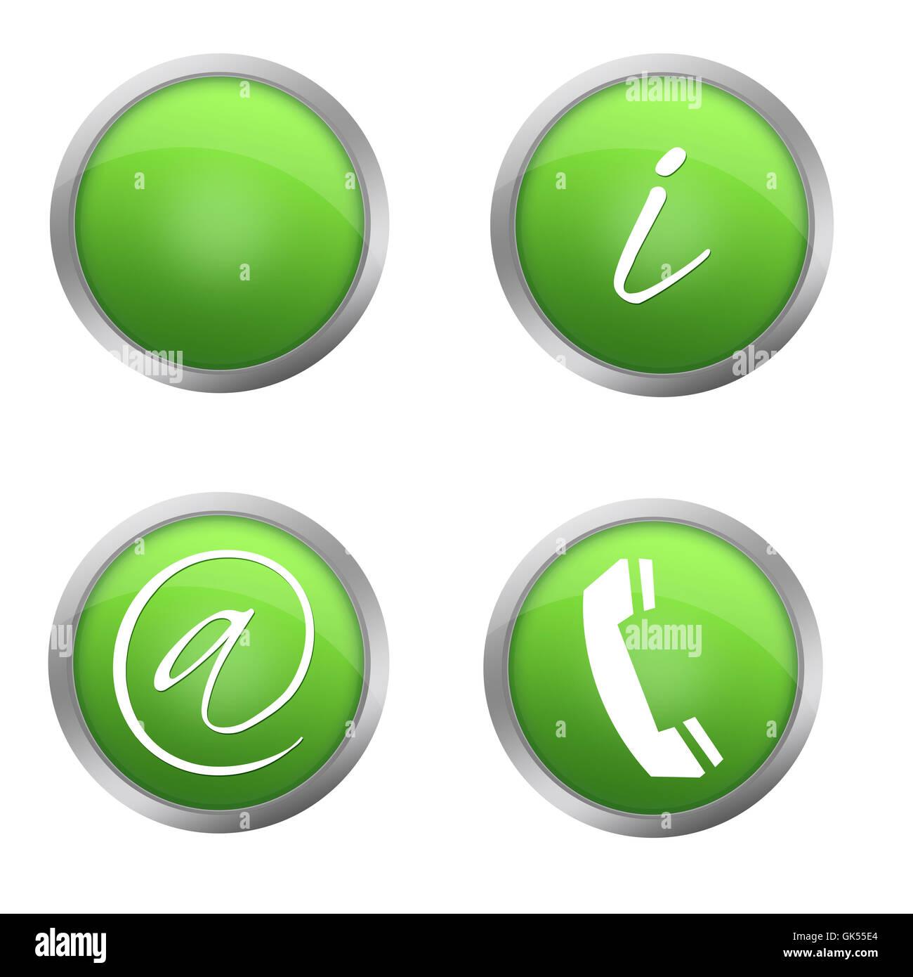 green brilliance call - Stock Image