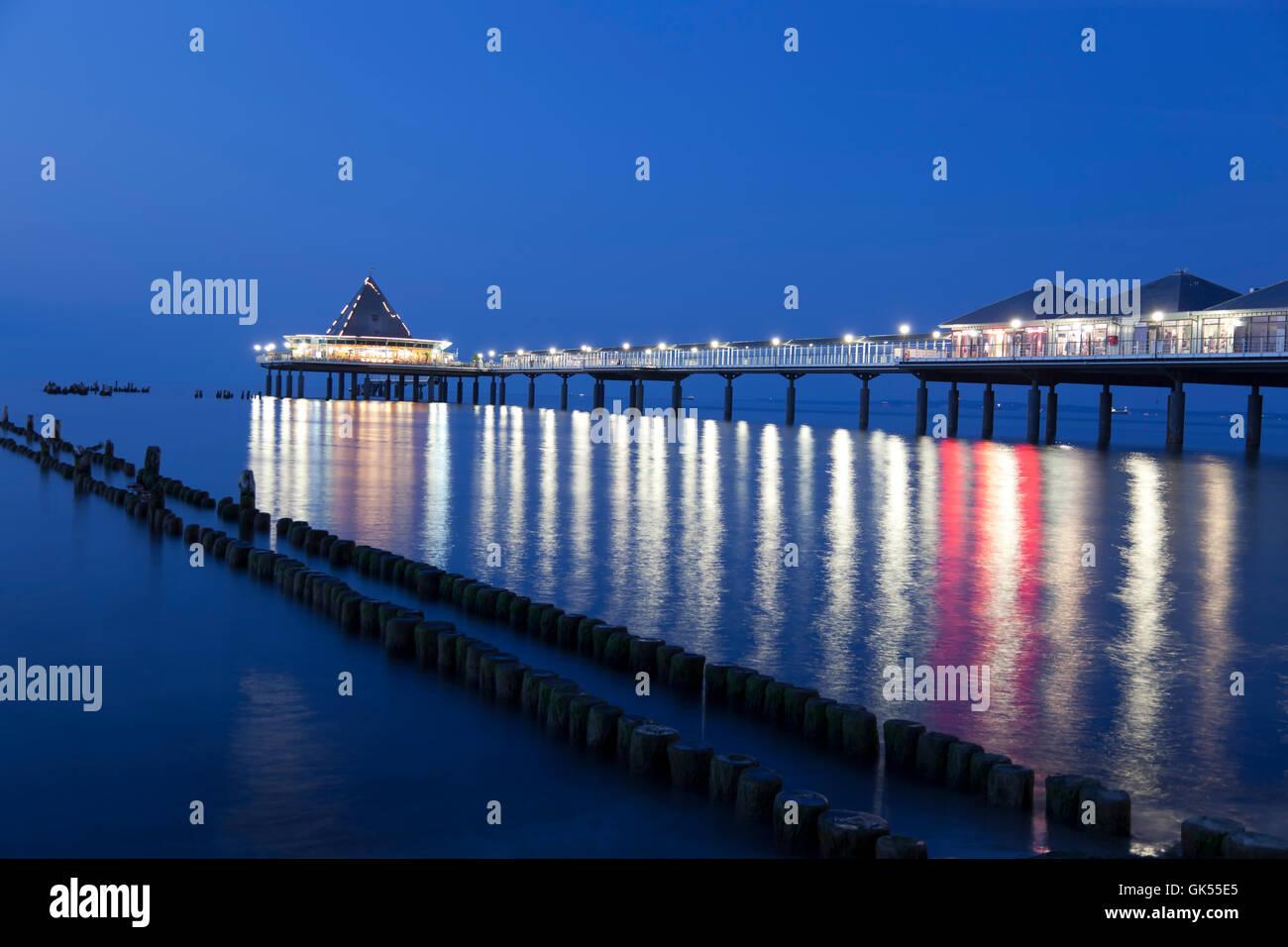 heringsdorf pier on the island of usedom Stock Photo