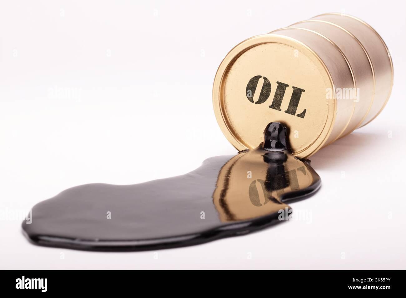 oil barrel gold 4 Stock Photo