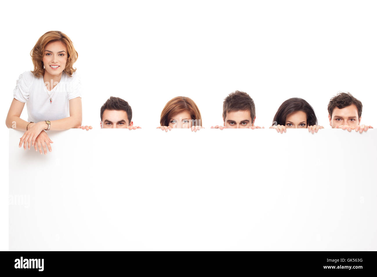 face banner advertise - Stock Image