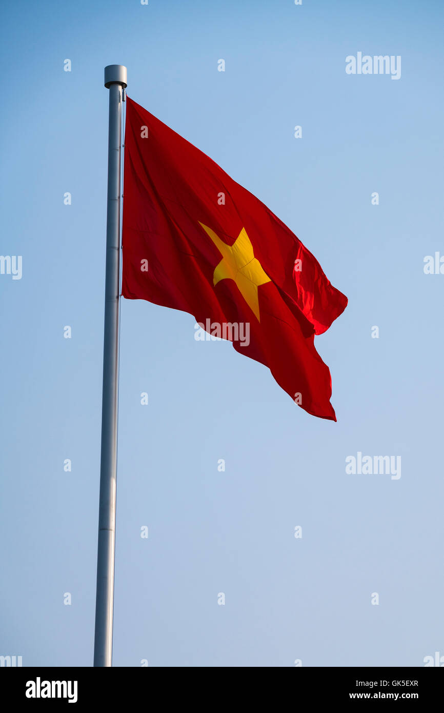 Vietnag garbage flag Stock Photo