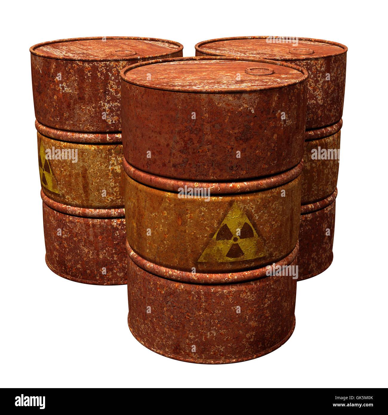 hazardous rusty radiation - Stock Image