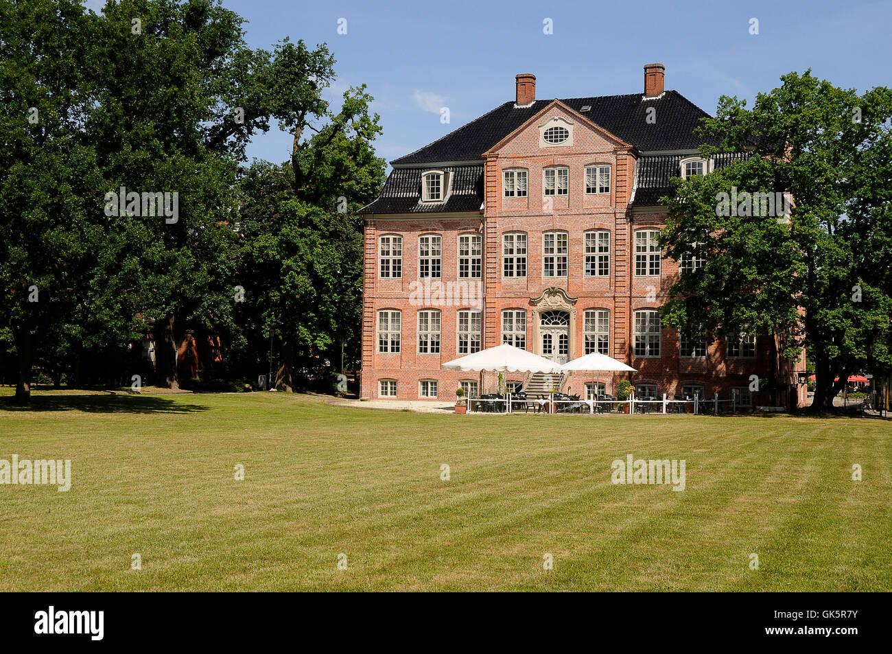 villa emblem farm house - Stock Image