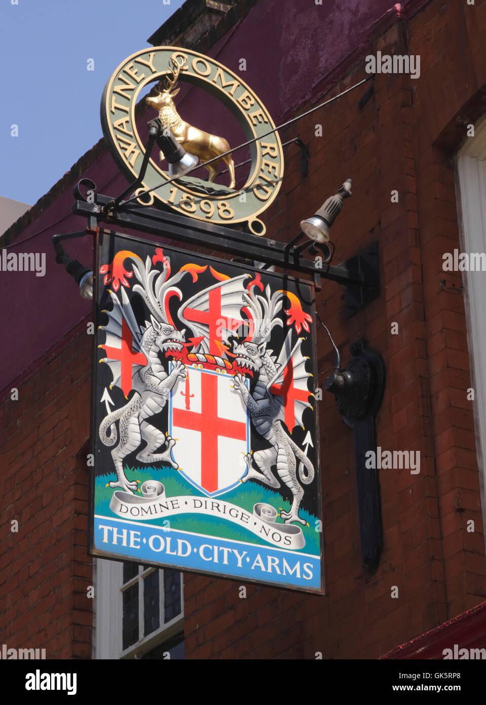The Black Lion Pub sign Hammersmith London - Stock Image