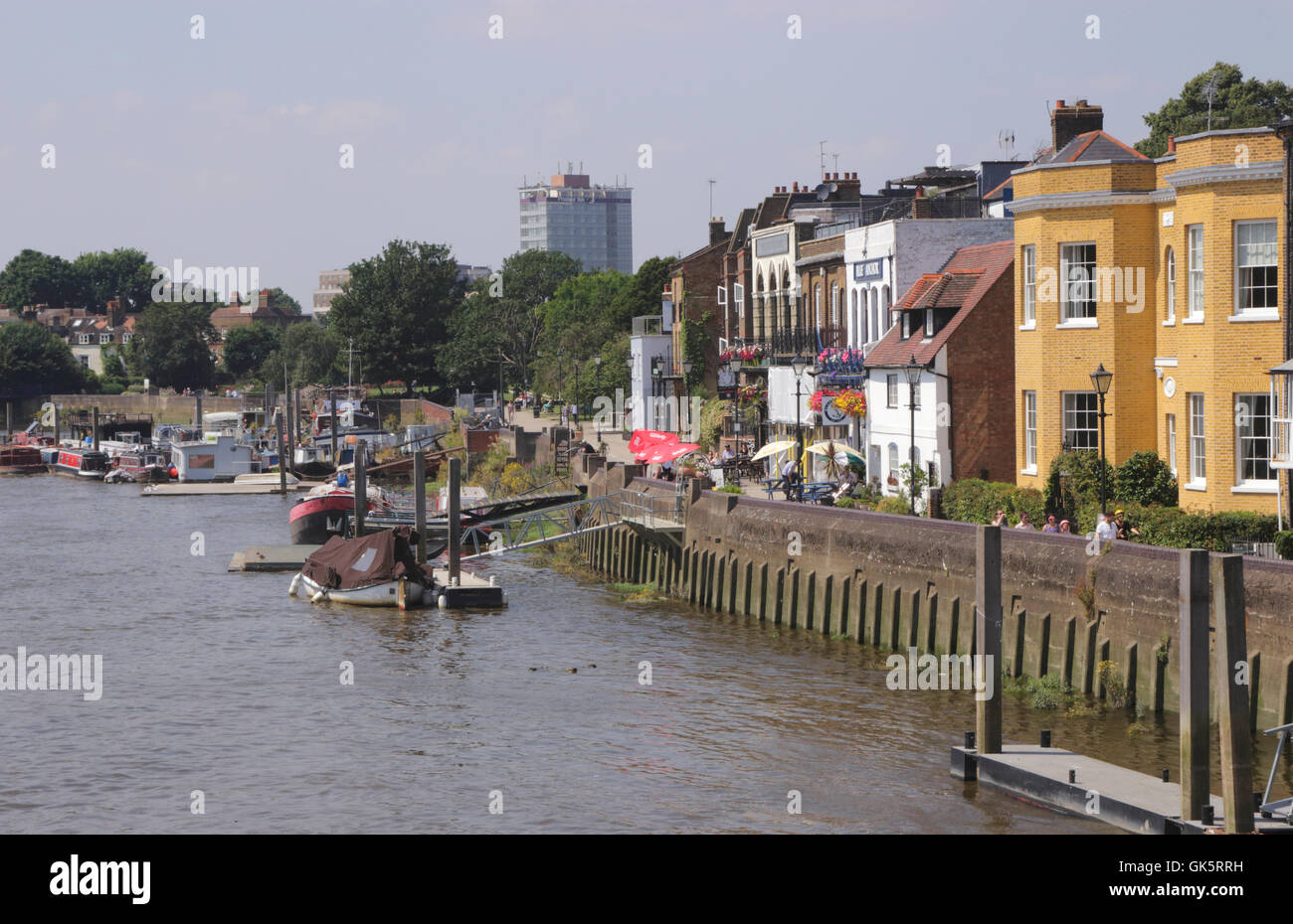 Riverside Hammersmith London Stock Photo