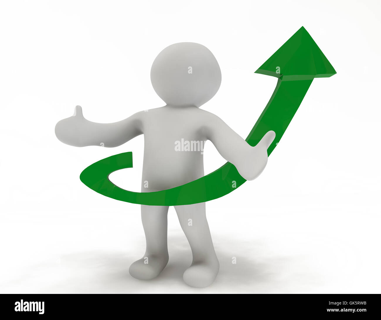 upwards career green - Stock Image