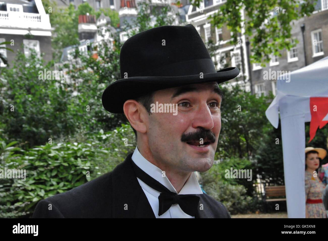 Master of Ceremonies, 2016 Chap Olympiad, Bedford Square, London. - Stock Image