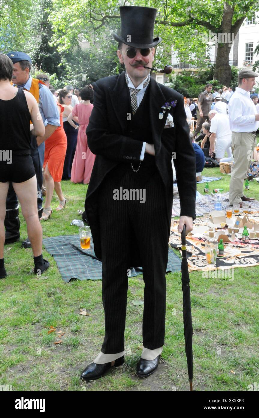 Top hat and tails, at the 2016 Chap Olympiad. - Stock Image