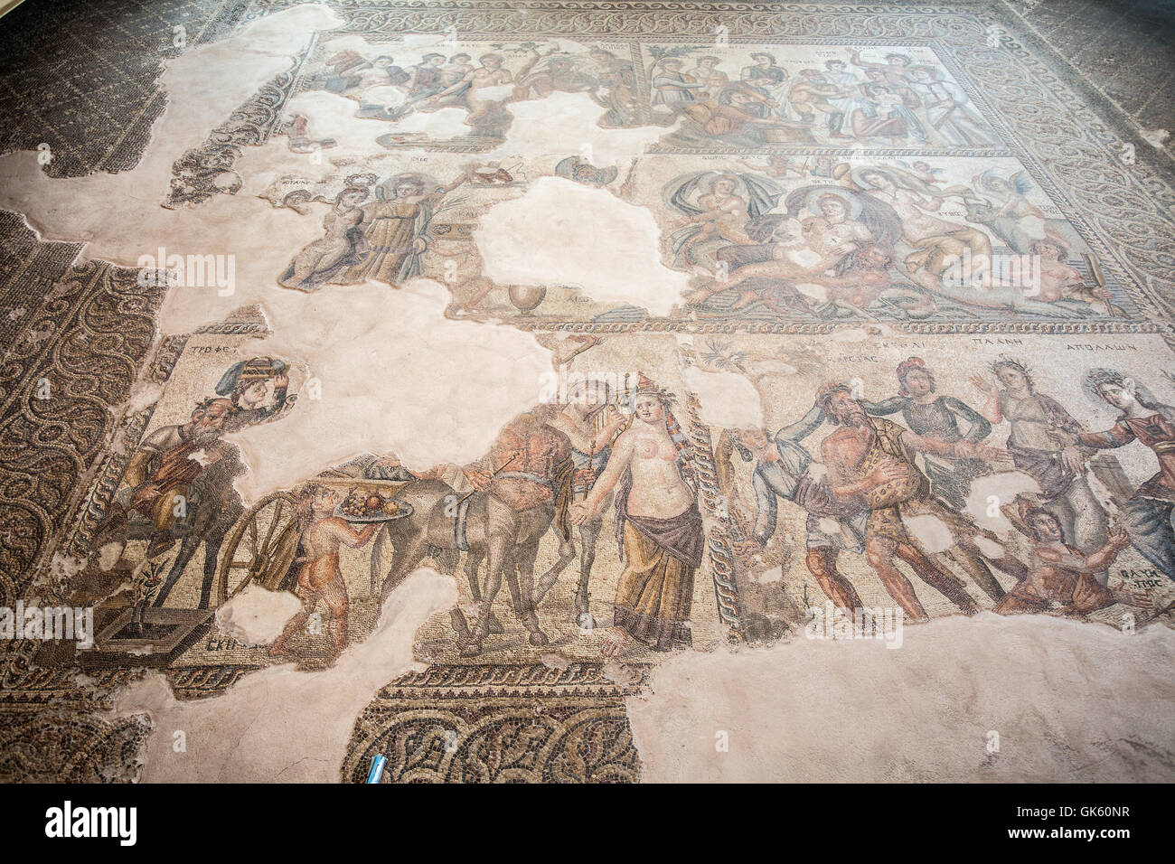 Paphos Archaeological Park in Cyprus. A UNESCO World Heritage Site. Stock Photo
