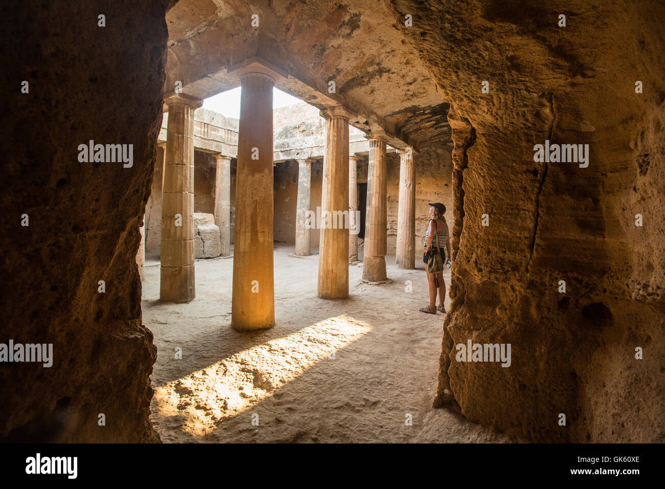 UNESCO World Heritage Site the Tombs of the Kings in Paphos, Cyprus. Stock Photo