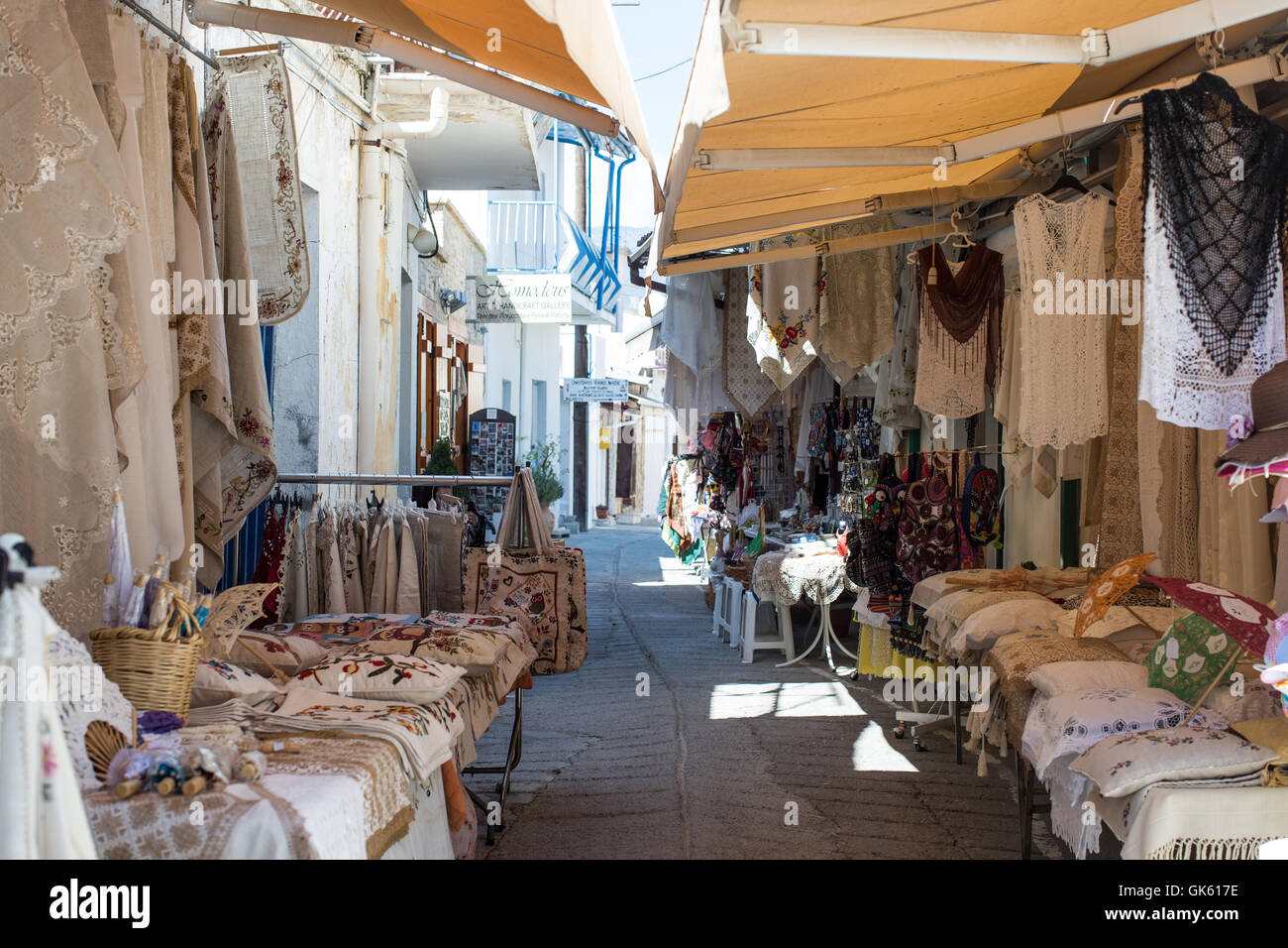 Views of Omodos Village in Cyprus. - Stock Image