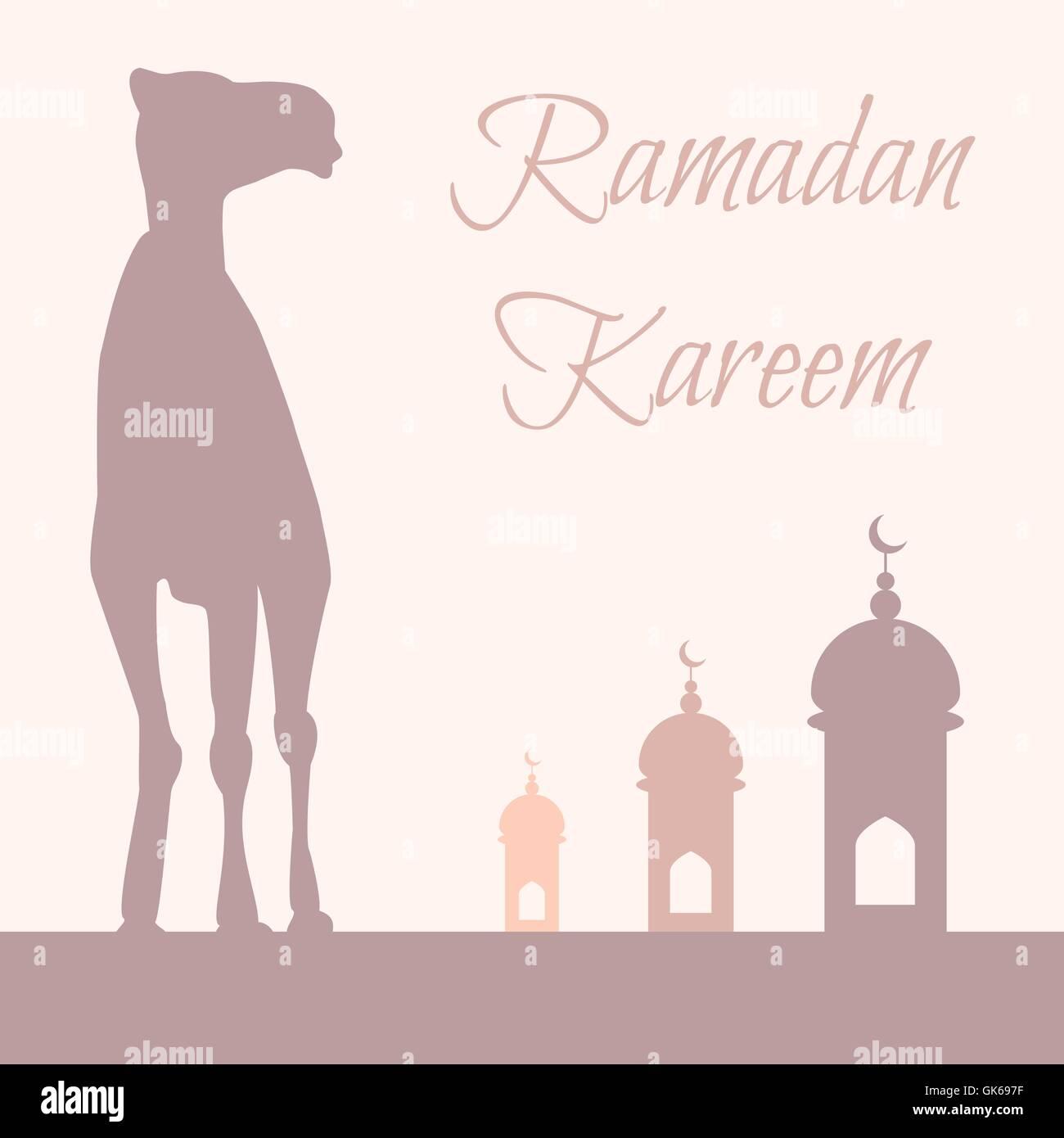 Ramadan greeting with camel islamic greeting card for ramadan stock ramadan greeting with camel islamic greeting card for ramadan kareem vector kristyandbryce Image collections