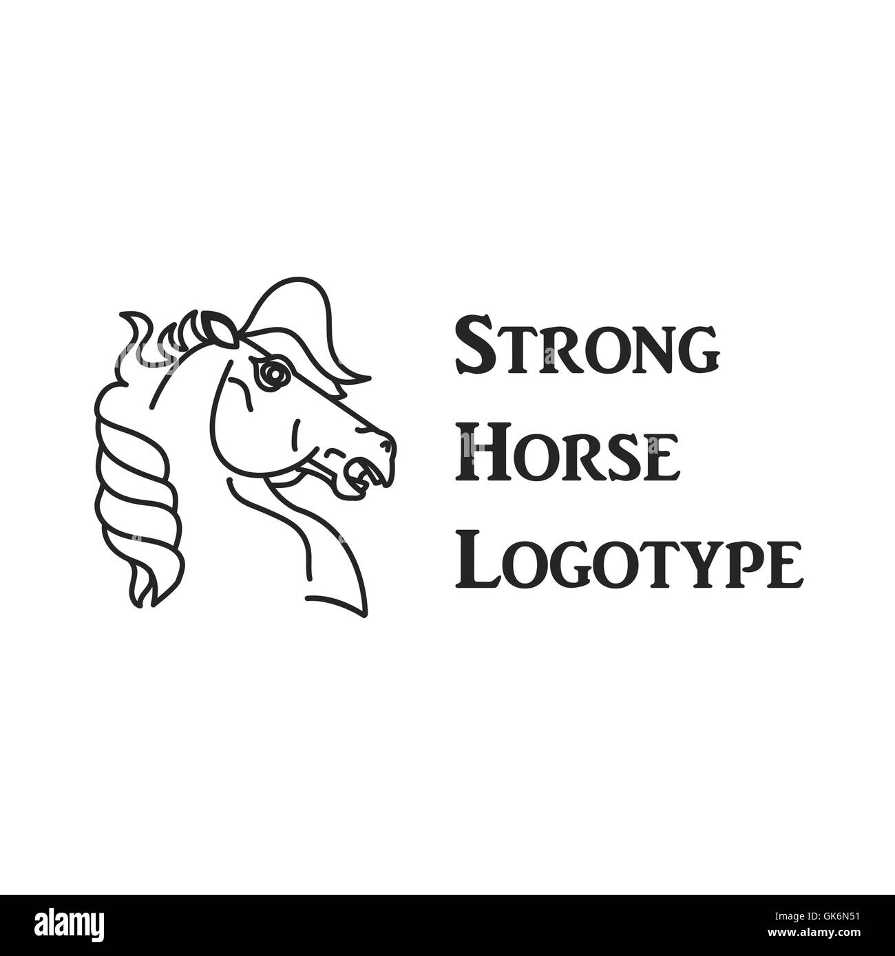 Horse Symbol And Logo Great Power Sign Stock Vector Art