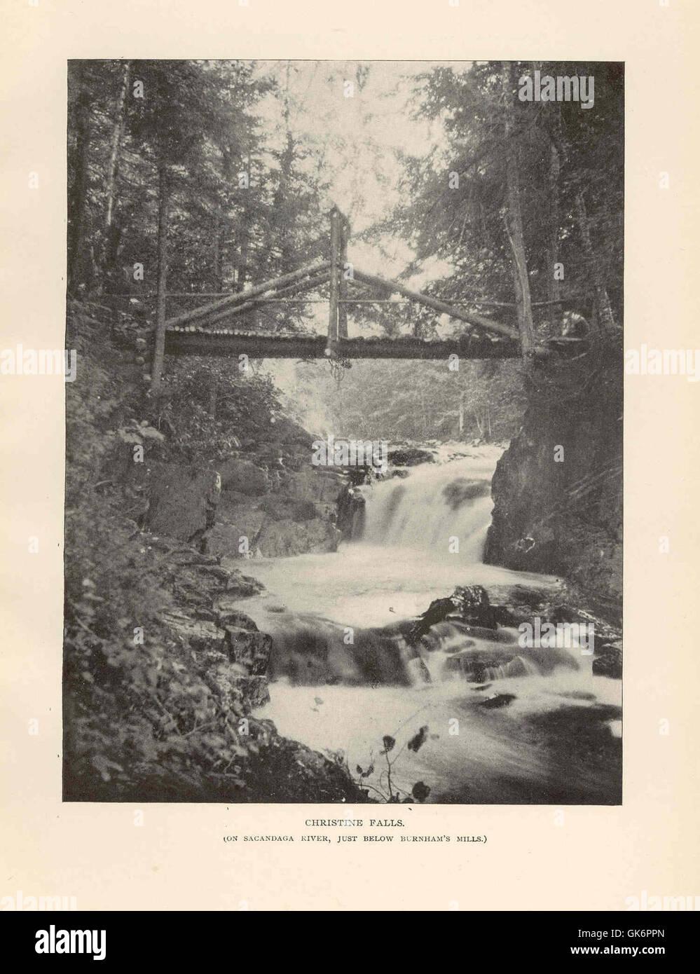 41648 Christine Falls (On Sacandaga River, just below Burnham's Mills) - Stock Image