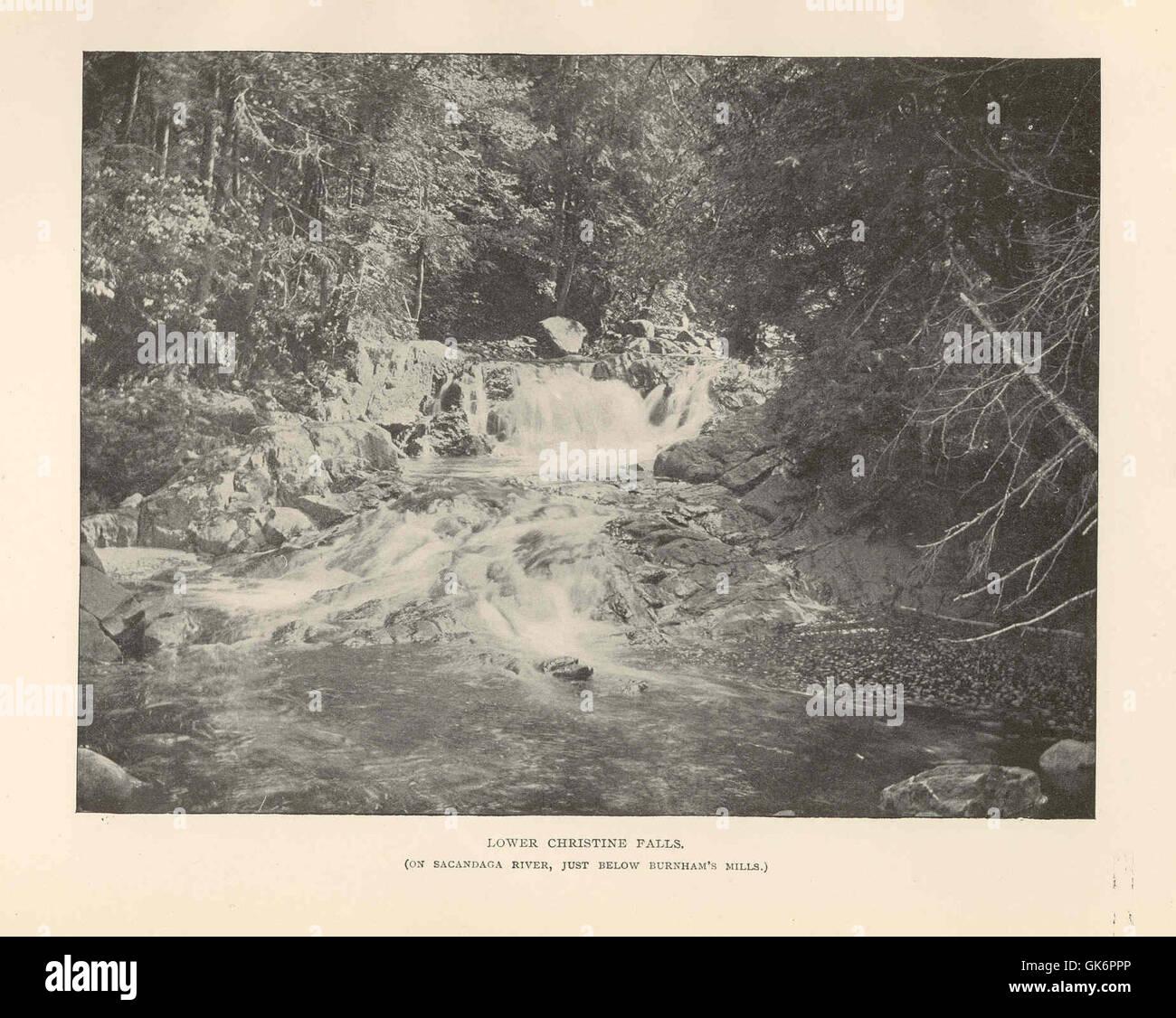 41649 Lower Christine Falls (On Sacandaga River, just below Burnham's Mills) - Stock Image