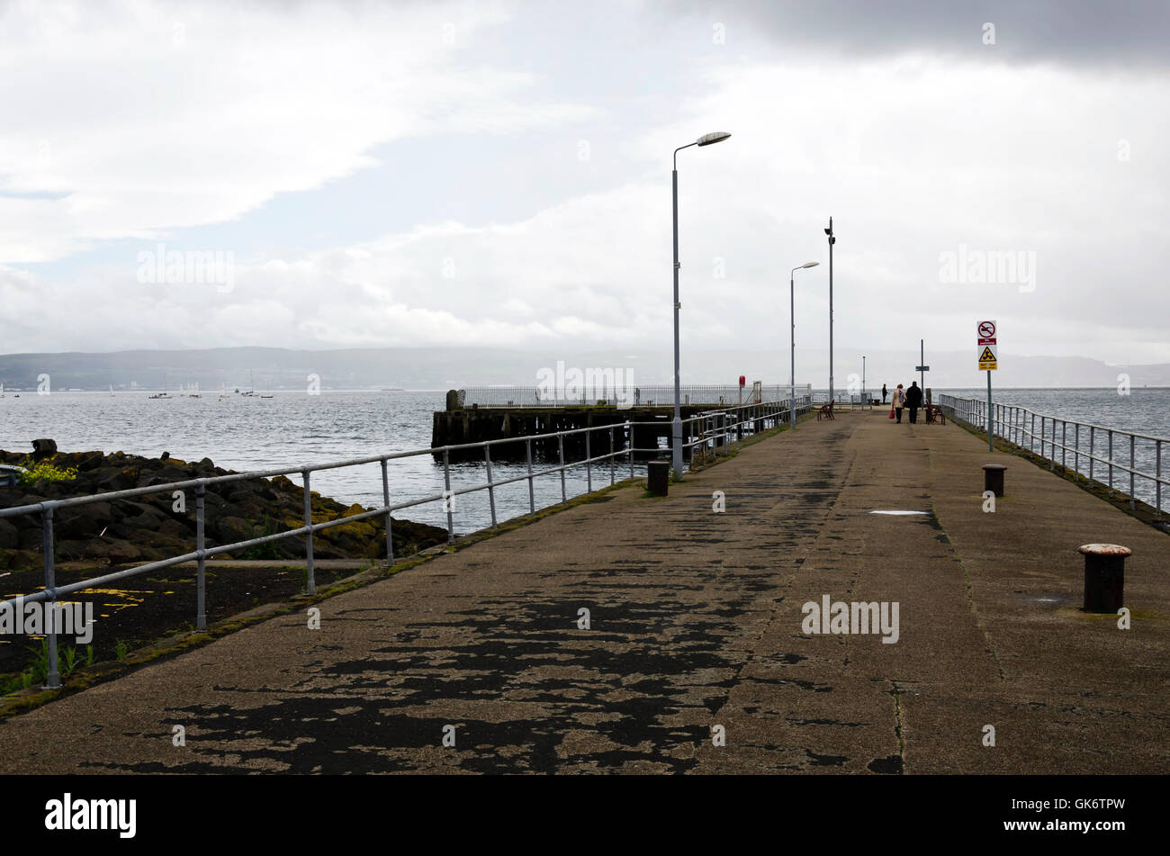 The pier at Helensburgh with Gare Loch beyond in Argyll and Bute Region, Scotland. - Stock Image