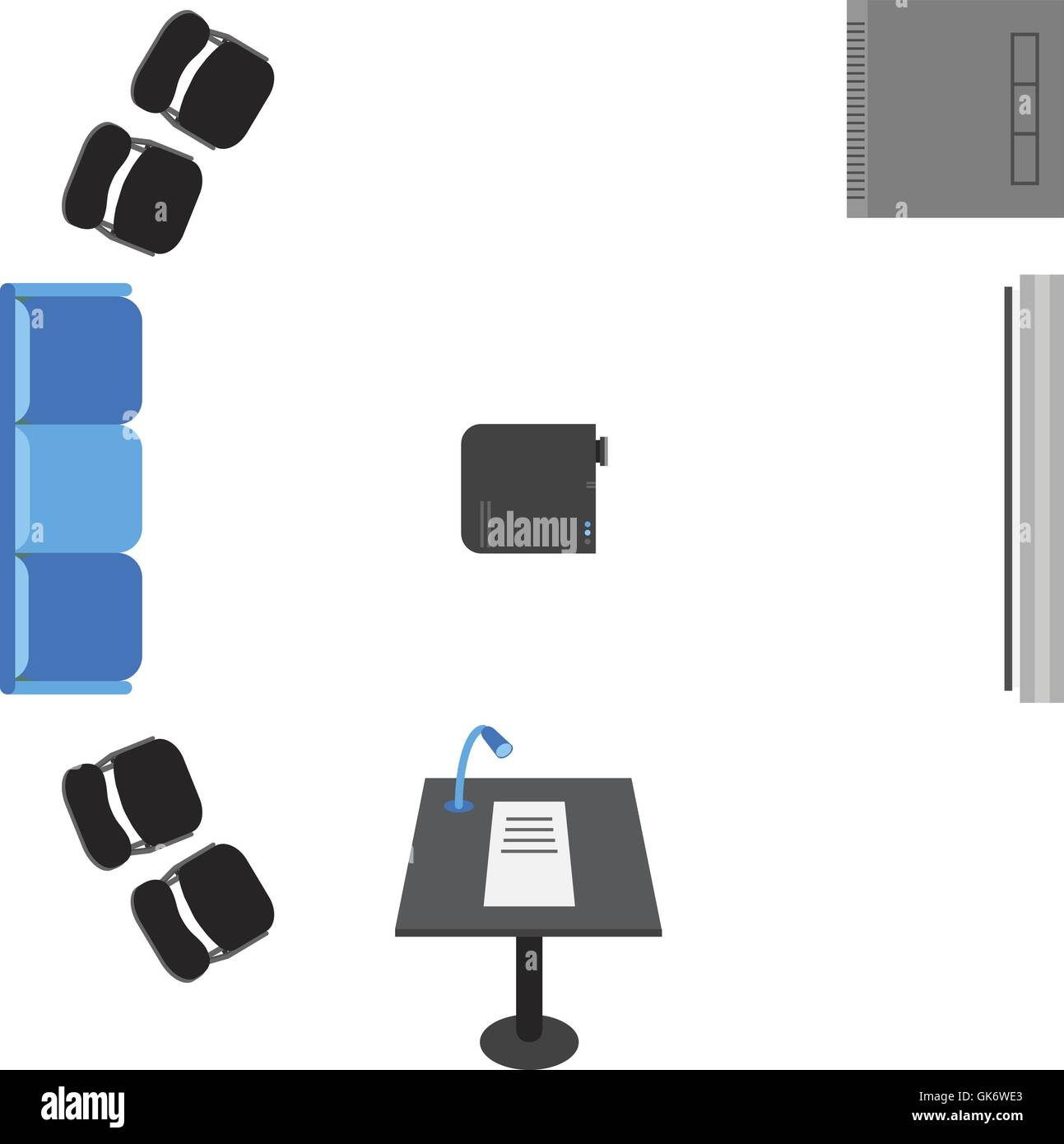 Sofa chair top view Vector Vector Set Of Icons For Presentation Top View Sofa Chairs Projector Server Board Bollard Alamy Vector Set Of Icons For Presentation Top View Sofa Chairs Stock