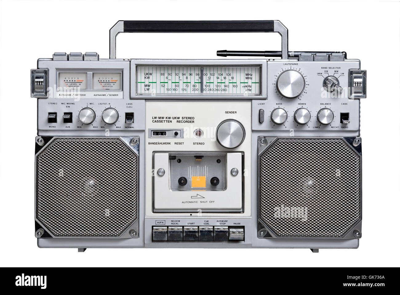 rstereo radio cassette - Stock Image