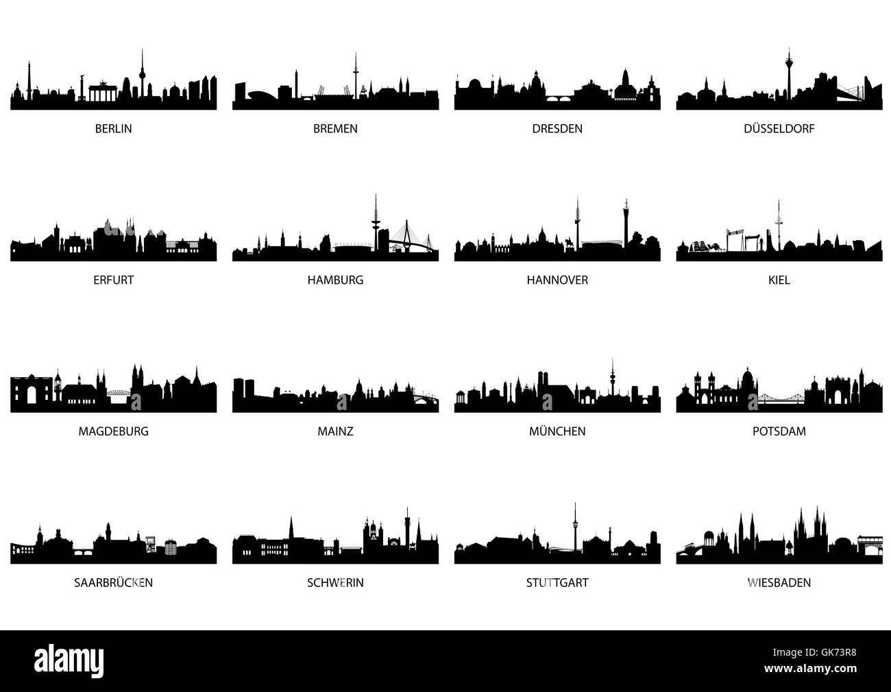germany main cities - Stock Image