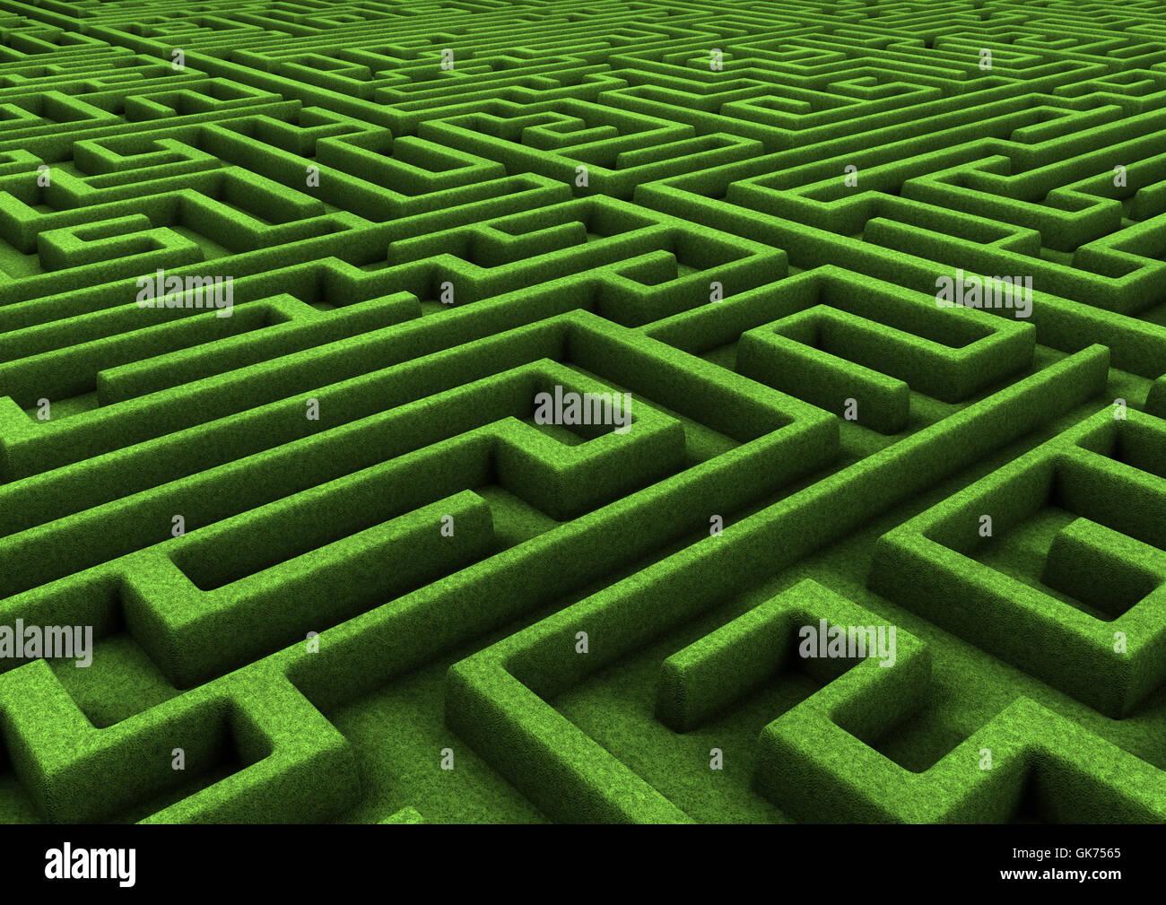 endless maze nature - Stock Image