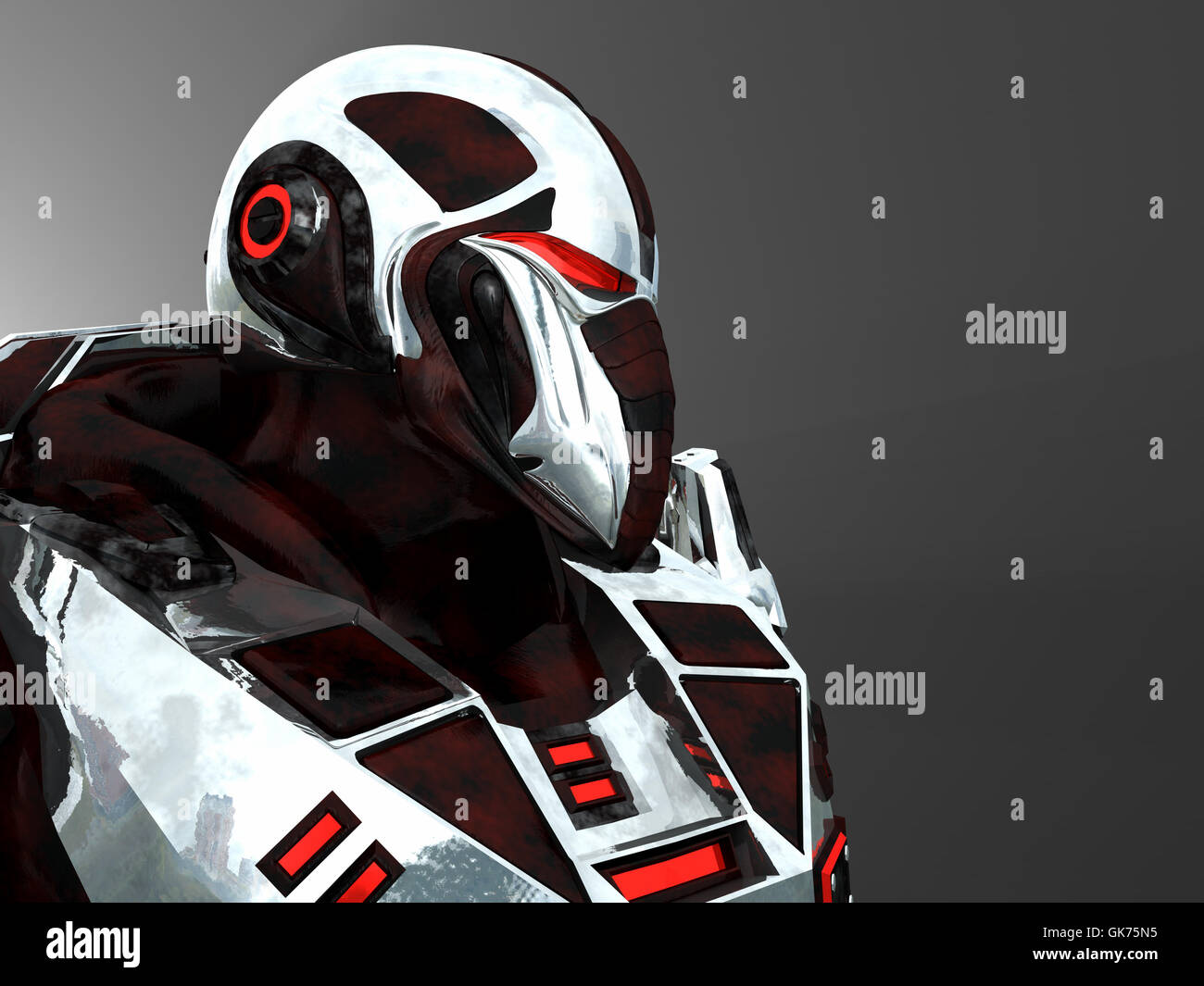 soldier futuristic technology - Stock Image