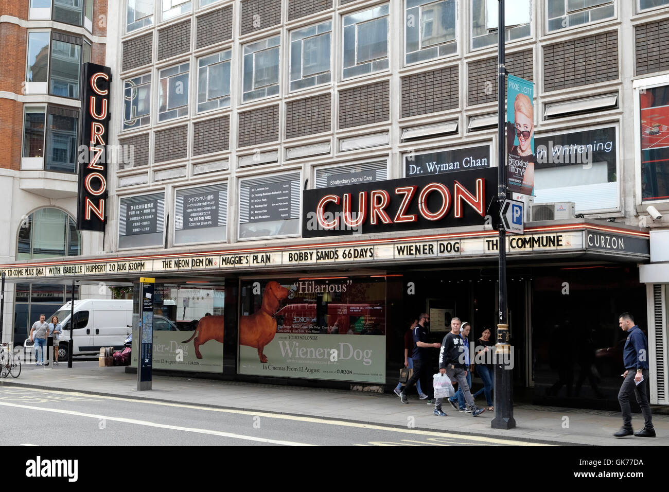 promo code 69b13 cdd55 A general view of Curzon cinema in Soho, central London - Stock Image