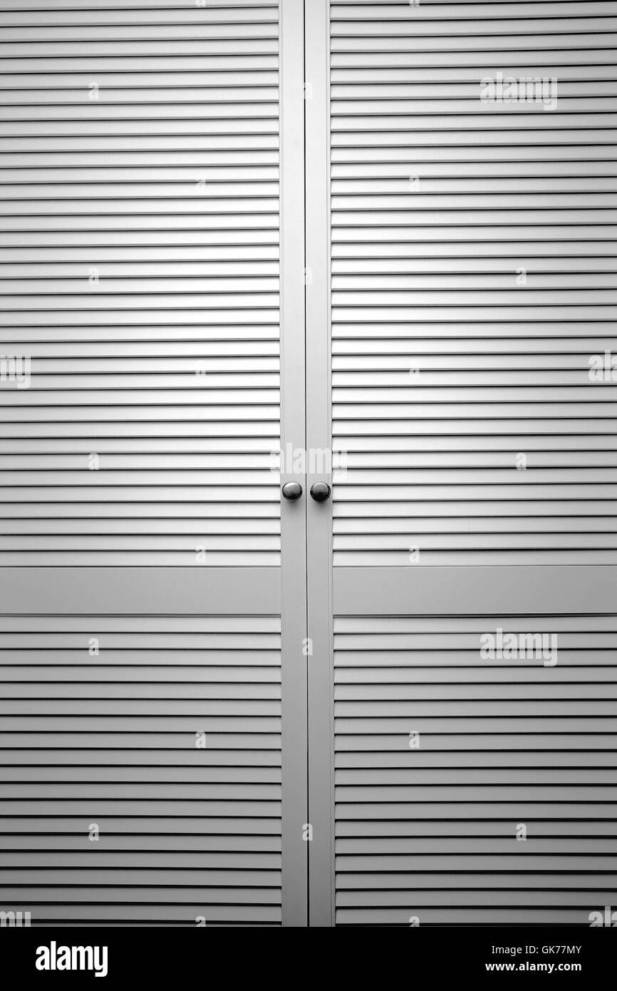 slat door - Stock Image