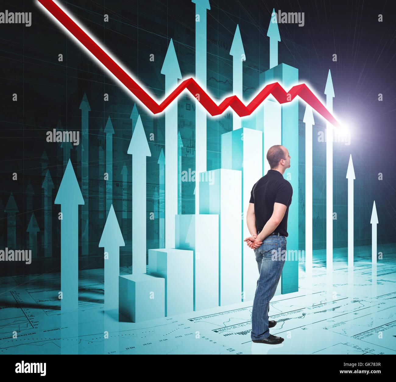 recession grow improve - Stock Image