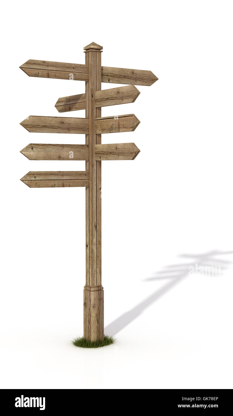 rusty signpost plank - Stock Image