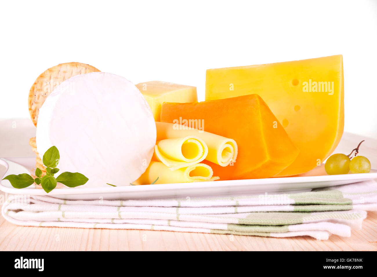 mix variation camembert - Stock Image