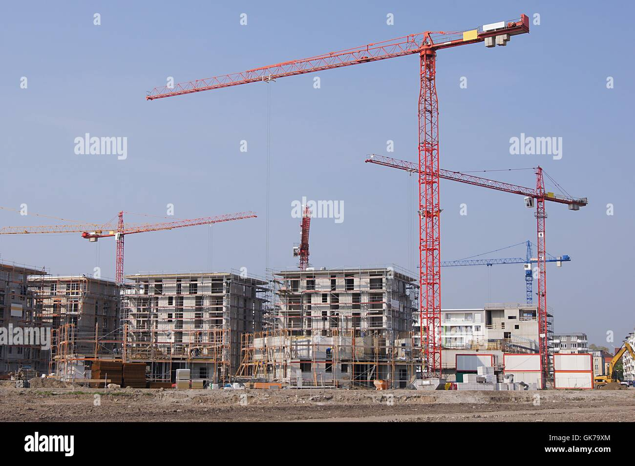 tenements multiple family dwelling specific land-use area - Stock Image