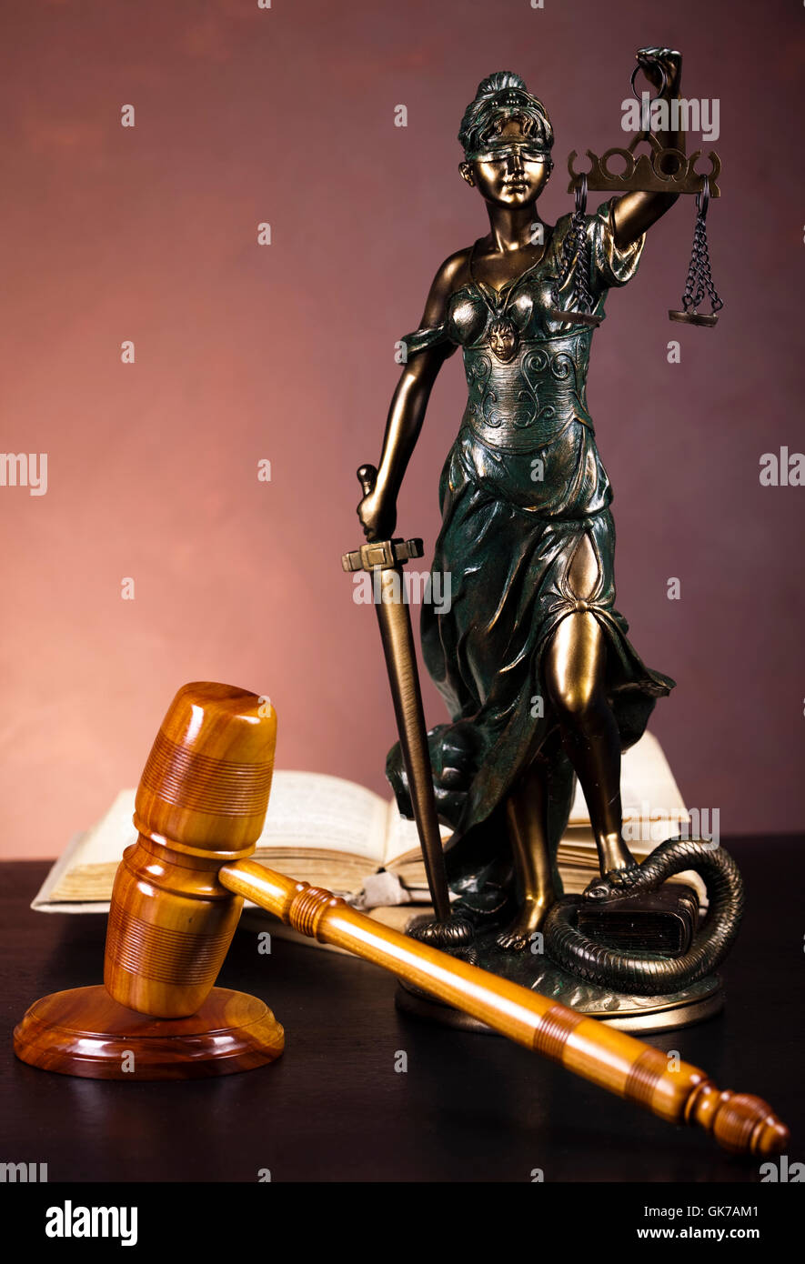 lady law justice - Stock Image