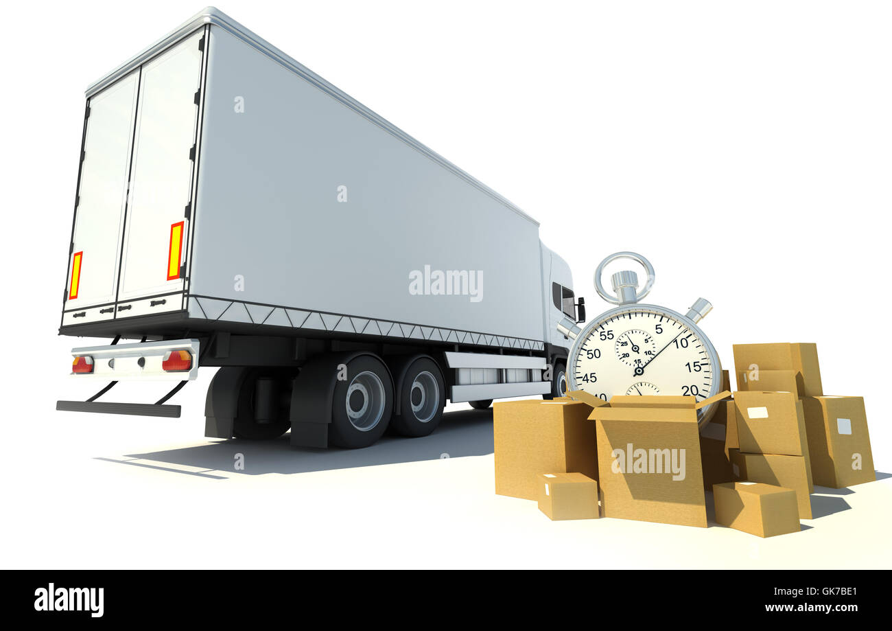 traffic transportation date - Stock Image