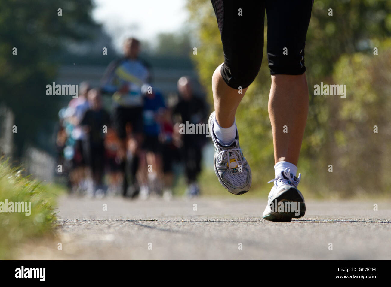 marathon runner in competition - Stock Image