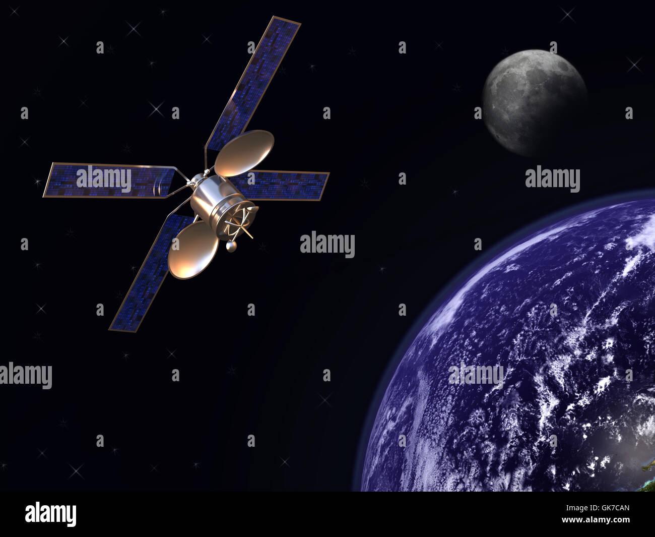 moon communication satellite - Stock Image