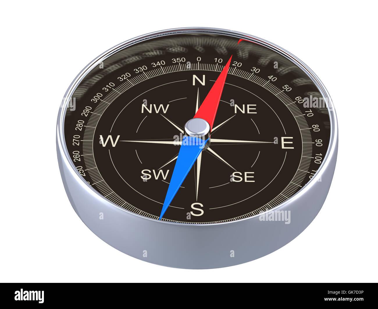 isolated navigation direction Stock Photo