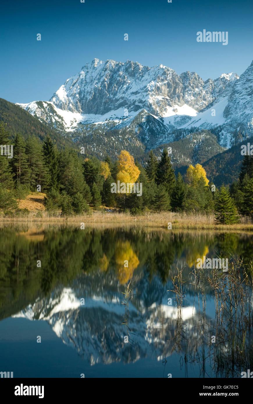 mountains alps mirroring Stock Photo