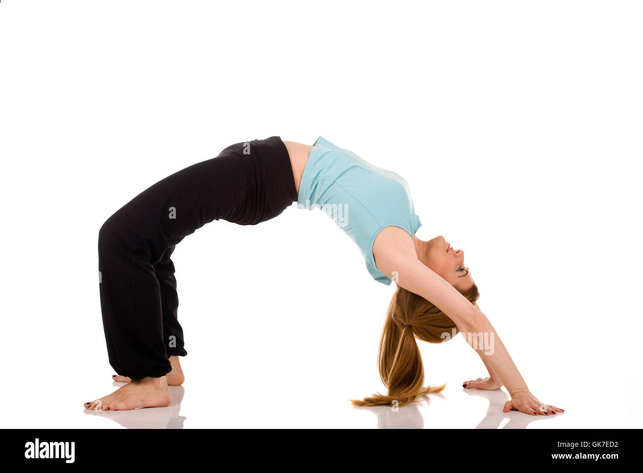 lifestyle strain stretching - Stock Image