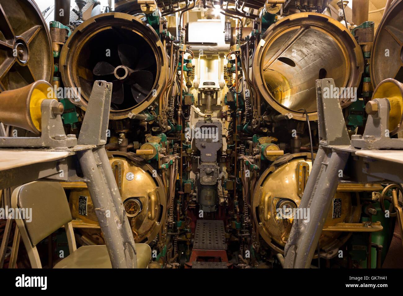 US World War II Submarine Interior