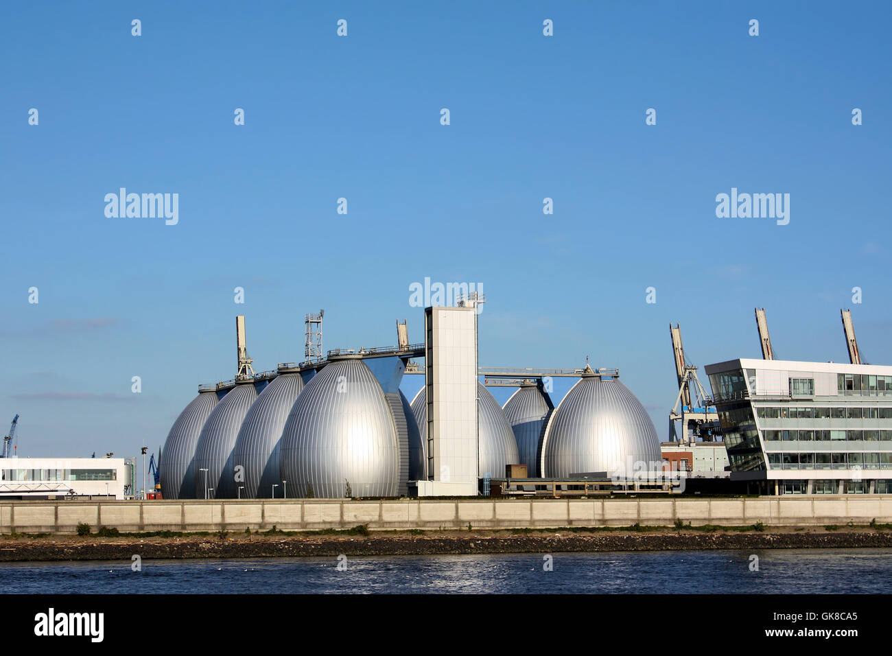 silver purification plant oval - Stock Image